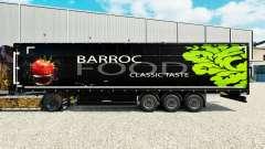 Pele Barroco Alimentos em uma cortina semi-reboque para Euro Truck Simulator 2