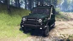 UAZ-315195 caçador v3.0 para Spin Tires