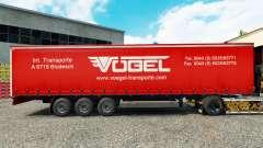 Pele Vogel em uma cortina semi-reboque para Euro Truck Simulator 2