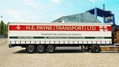 Pele E. H. Payne Transporte de semi-reboque cortina para Euro Truck Simulator 2