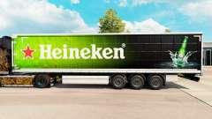 Pele Heineken para cortina semi-reboque para Euro Truck Simulator 2