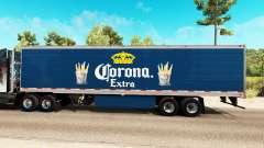 Corona Extra, a pele do reefer trailer para American Truck Simulator