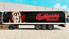 Pele Budweiser em uma cortina semi-reboque para Euro Truck Simulator 2
