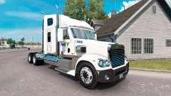 A pele da FedEx caminhão Freightliner Coronado para American Truck Simulator