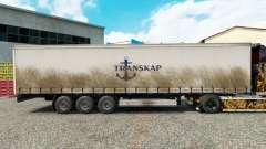 Pele Transkap em uma cortina semi-reboque para Euro Truck Simulator 2