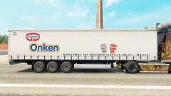 Pele Dr. Oetker Onken em uma cortina semi-reboque para Euro Truck Simulator 2