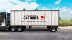 Pele Castores no metal trailer para American Truck Simulator