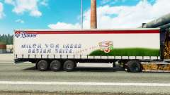 Pele Bauer em uma cortina semi-reboque para Euro Truck Simulator 2