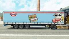 Pele Dr. Oetker Paula em uma cortina semi-reboque para Euro Truck Simulator 2