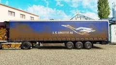 Pele J. S. Logistik AG em uma cortina semi-reboque para Euro Truck Simulator 2