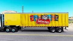 Pele Sabritas em uma cortina semi-reboque para American Truck Simulator