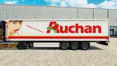 Auchan pele para cortina semi-reboque para Euro Truck Simulator 2