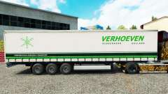 Pele Verhoeven sobre uma cortina semi-reboque para Euro Truck Simulator 2