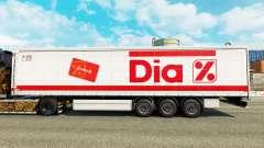 Pele Dia por uma cortina semi-reboque para Euro Truck Simulator 2