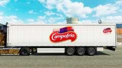 Pele Campofrio em uma cortina semi-reboque para Euro Truck Simulator 2