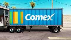 Pele Comex em um all-metal trailer para American Truck Simulator