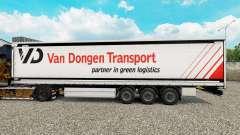 Pele Van Dongen de Transporte de semi-reboque cortina para Euro Truck Simulator 2
