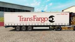 Pele Trans Fargo em uma cortina semi-reboque para Euro Truck Simulator 2