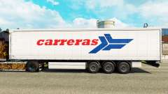 Pele Carreras em uma cortina semi-reboque para Euro Truck Simulator 2