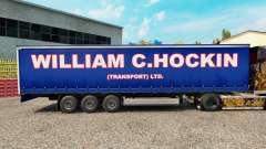 O William C. Hockin a pele sobre o trailer de cortina para Euro Truck Simulator 2