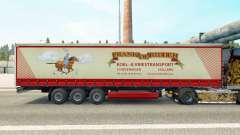 Pele de Frank Ridder em uma cortina semi-reboque para Euro Truck Simulator 2