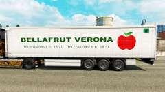 Pele Bellafrut Verona na cortina semi-reboque para Euro Truck Simulator 2