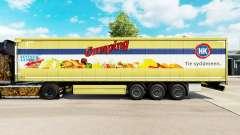 Pele HK Acampamento em uma cortina semi-reboque para Euro Truck Simulator 2