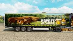 Pele Zubr em uma cortina semi-reboque para Euro Truck Simulator 2