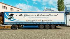 Pele Mc Geown em uma cortina semi-reboque para Euro Truck Simulator 2