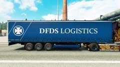 Pele de DFDS de Logística em uma cortina semi-reboque para Euro Truck Simulator 2