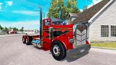 O Vermelho e Preto de pele para o caminhão Peterbilt 351 para American Truck Simulator