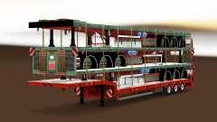 Baixa varrer com uma carga de semi-reboques para Euro Truck Simulator 2