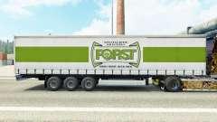 Pele Forst em uma cortina semi-reboque para Euro Truck Simulator 2
