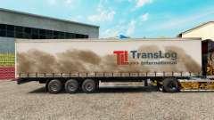 Pele Trans Log em uma cortina semi-reboque para Euro Truck Simulator 2