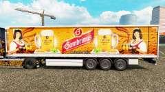 Pele Gambrinus em uma cortina semi-reboque para Euro Truck Simulator 2
