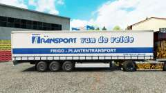 Pele de Transporte VdV em uma cortina semi-reboque para Euro Truck Simulator 2