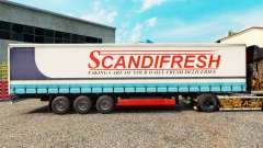 Pele Scandifresh em uma cortina semi-reboque para Euro Truck Simulator 2