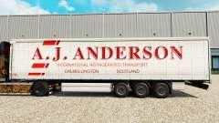 Pele A. J. Anderson em uma cortina semi-reboque para Euro Truck Simulator 2