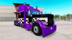 Скин Roxo e Preto verificador на Peterbilt 389 para American Truck Simulator