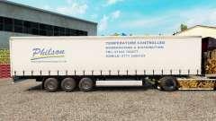 Pele Philson em uma cortina semi-reboque para Euro Truck Simulator 2