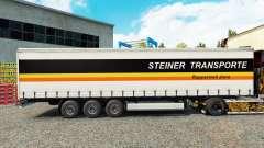 Steiner Transporte de pele no trailer cortina para Euro Truck Simulator 2