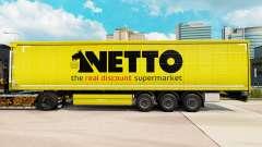 Pele Netto em uma cortina semi-reboque para Euro Truck Simulator 2