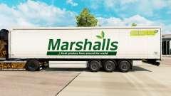 Pele Marshall em uma cortina semi-reboque para Euro Truck Simulator 2