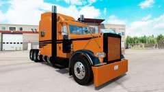 Coppertone pele para o caminhão Peterbilt 389 para American Truck Simulator