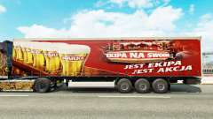 Pele Warka em uma cortina semi-reboque para Euro Truck Simulator 2