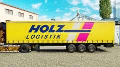 Pele Holz Logistik em uma cortina semi-reboque para Euro Truck Simulator 2