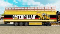 A pele da Lagarta v2 em uma cortina semi-reboque para Euro Truck Simulator 2