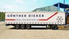 Pele Gunther Dieker em uma cortina semi-reboque para Euro Truck Simulator 2