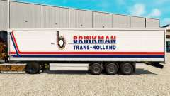Pele Brinkman em uma cortina semi-reboque para Euro Truck Simulator 2