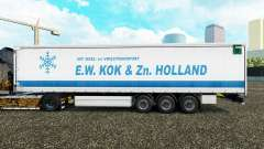Pele E. W. Kok & Zn na Holanda cortina semi-reboque para Euro Truck Simulator 2